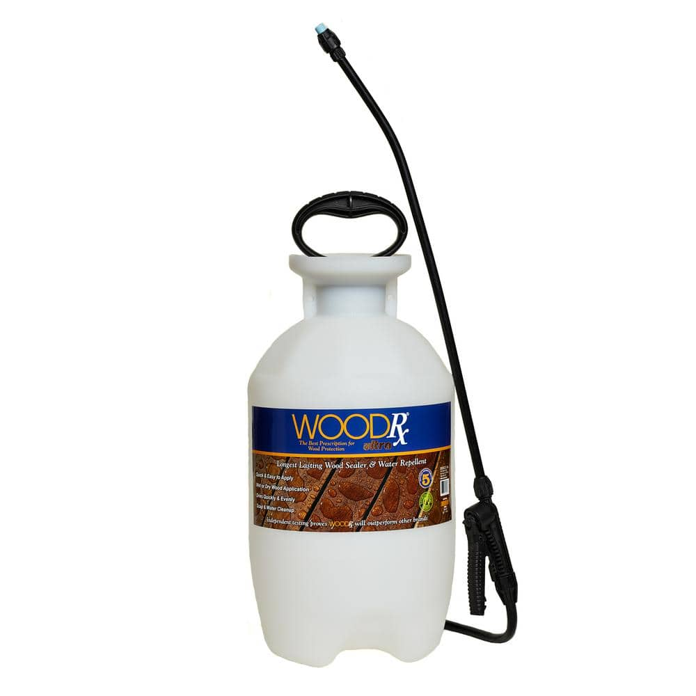WoodRx 2 gal. Ultra Tawny Cypress Transparent Wood Stain/Sealer with Pump Sprayer/Fan Tip