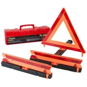 17 in. Folding Safety Triangle (3 per Pack)