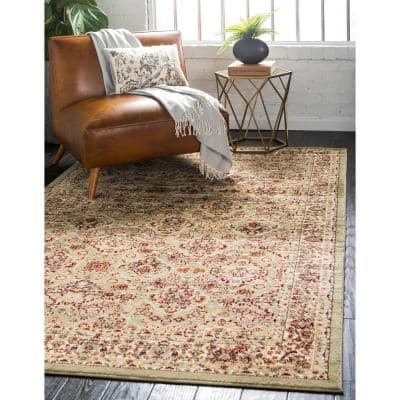 Green Floral Area Rugs Rugs The Home Depot