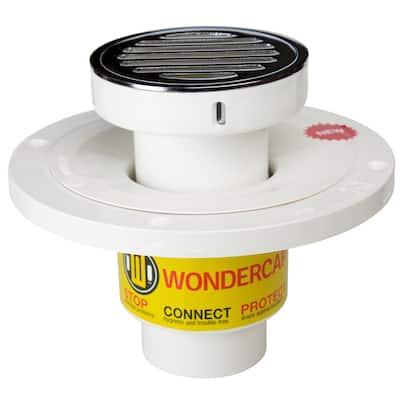 "2"" All-In-One Shower Drain Kit w/ Round Strainer"