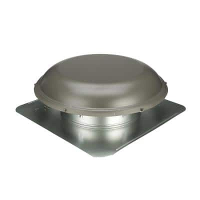 144 sq. in. NFA Galvanized Round-Top Roof Louver Static Vent in Weatherwood (1 per Carton)