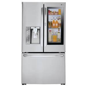 24 cu. ft. 3-Door French Door Smart Refrigerator with InstaView Door-in-Door in Stainless Steel, Counter Depth