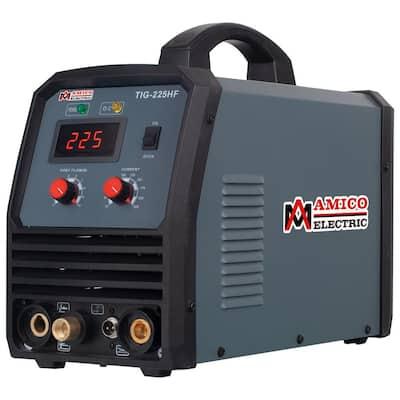 225-Amp Pro. HF-TIG Arc Stick DC Inverter Welder, 100% Start, 80% Duty Cycle, 100-Volt to 250-Volt Wide Voltage Welding
