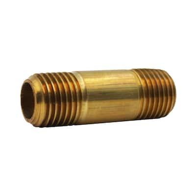 1/4 in. x 1-1/2 in. MIP Brass Nipple Fitting