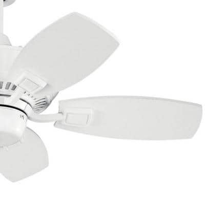 Canfield 30 in. Indoor/Outdoor White Downrod Mount Ceiling Fan