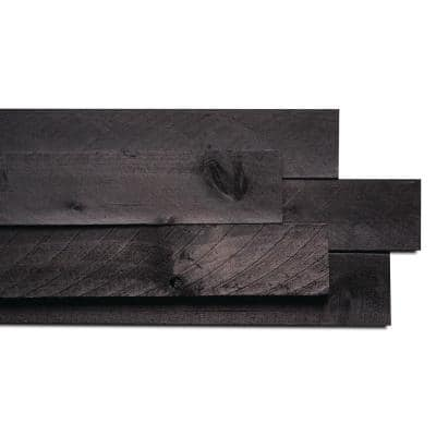 Weaber 1/2 in. x 4 in. x 4 ft. Anthracite Barn Wood Board 5 packs (52.5 sq.ft.) – (8 pieces / 10.5 sq.ft. per pack)