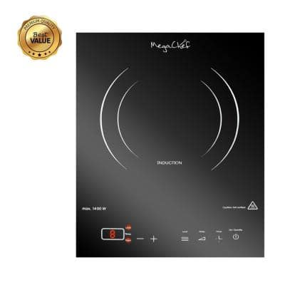 Portable 11 in. Ceramic Glass Induction Cooktop in Black with 1 Element