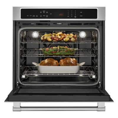 27 in. Single Electric Wall Oven with True Convection in Fingerprint Resistant Stainless Steel