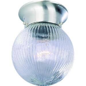 Roth 1-Light Brushed Nickel Flush Mount