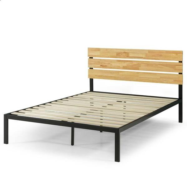 Zinus Paul Metal And Wood Platform Bed, Does A Platform Bed Have Slats