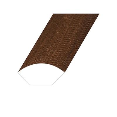 Opus Prime Chestnut 0.6 in. T x 1 in. W x 94.5 in. L Vinyl Quarter Round Molding