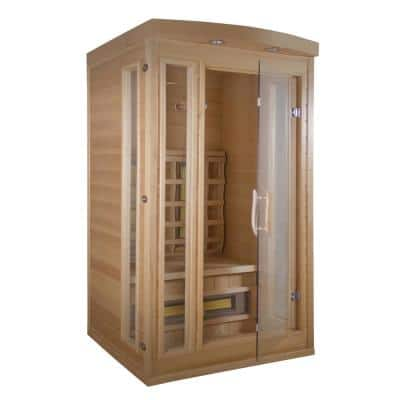 Thera Classic 1-Person, 6 -TheraMitter Ceramic Heaters, Hemlock Wood, SoftTouch Control, Far Infrared Sauna