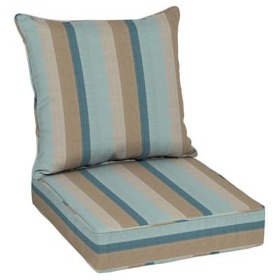 Oak Cliff 24 x 24 Sunbrella Gateway Mist Deep Seating Outdoor Lounge Chair Cushion