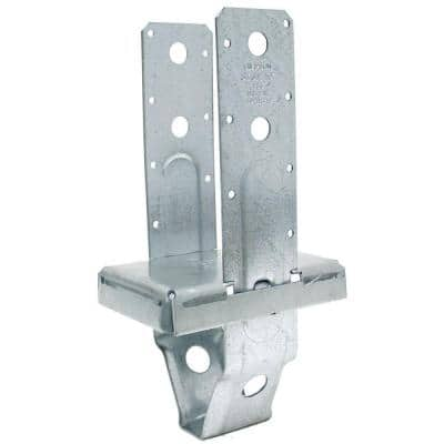 PBS Galvanized Standoff Post Base for 4x6 Nominal Lumber
