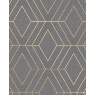 Adaline Taupe Geometric Vinyl Peelable Wallpaper (Covers 56.4 sq. ft.)