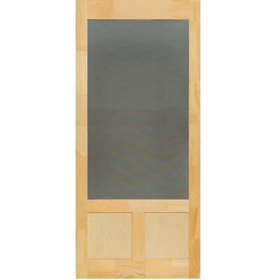 32 in. x 80 in. Elmwood Natural Pine Screen Door