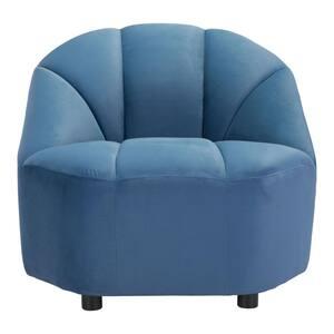 Julia Dark Blue Velvet Pine Plywood MDF Zinc Alloy Chair