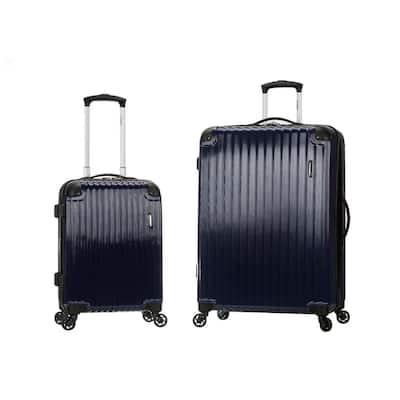 Expandable Santorini 2-Piece Hardside Spinner Luggage Set, Navy