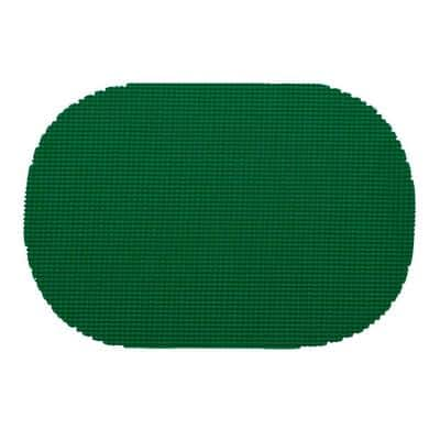 Fishnet Oval Placemat in Hunter Green (Set of 12)