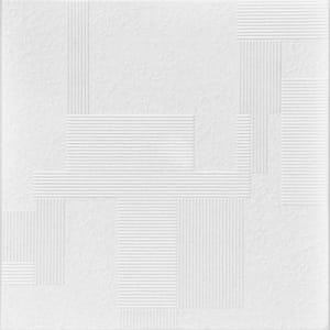 Vectors 1.6 ft. x 1.6 ft. Glue Up Foam Ceiling Tile in Plain White (21.6 sq. ft./case)
