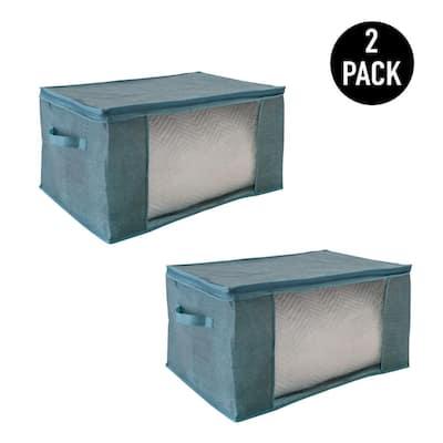 2 Pack Blanket Storage Bag in Dusty Blue