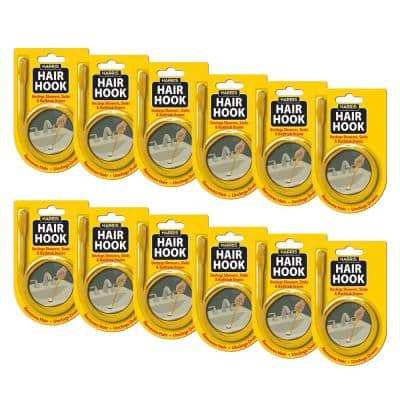 20 in. Hair Hook Drain Snake Unclogger (12-Pack)