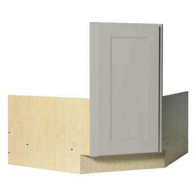 Shaker Partially Assembled 36 x 34.5 x 24 in. Corner Sink Base Kitchen Cabinet in Dove Gray