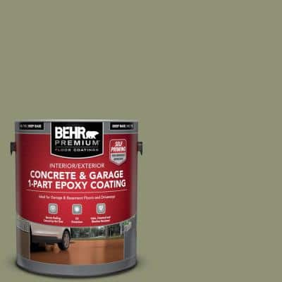 1 gal. #PFC-39 Moss Covered Self-Priming 1-Part Epoxy Satin Interior/Exterior Concrete and Garage Floor Paint