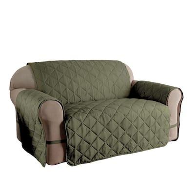 Microfiber Solid Ultimate XL Sage Sofa Protector
