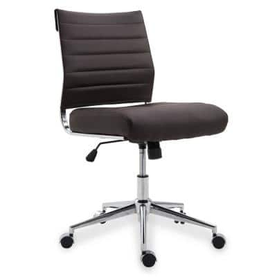 Tremaine Brown Task Chair in Vegan Leather