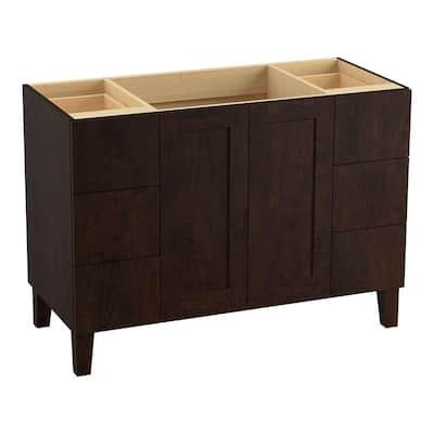 Poplin 48 in. W Bath Vanity Cabinet in Claret Suede