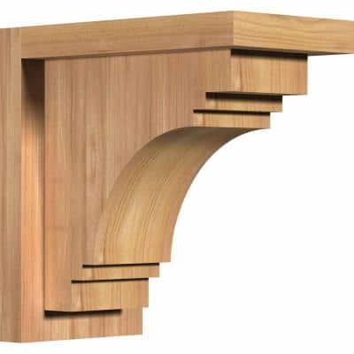 5-1/2 in. x 10 in. x 10 in. Western Red Cedar Pescadero Smooth Corbel with Backplate