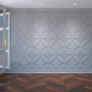 3/8'' x 23-3/8'' x 23-3/8'' Crosby Decorative Fretwork Wall Panels in Architectural Grade PVC
