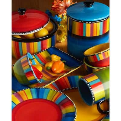 Sierra 16-Piece Seasonal Multicolored Earthenware Dinnerware Set (Service for 4)