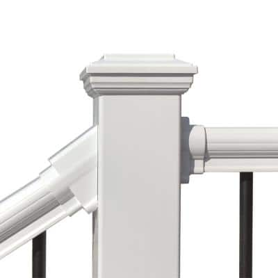 4.5 in. x 4.5 in. x 4 ft. White PVC Composite Fence Rail