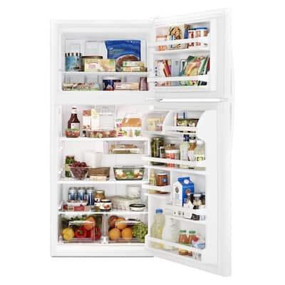 30 in. 18.25 cu. ft. Top Freezer Refrigerator in White