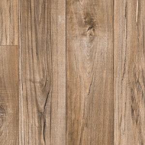 Aged Nickel Wood Residential Vinyl Sheet Flooring 13.2ft. Wide x Cut to Length