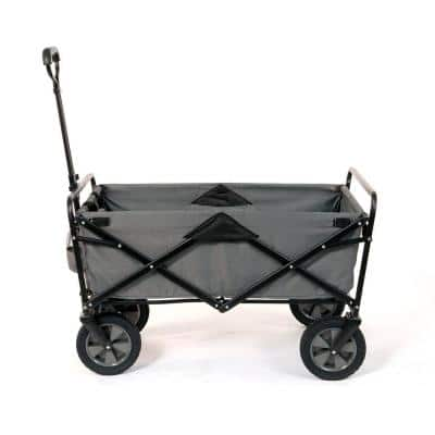Collapsible Steel Frame Outdoor Garden Camping Wagon in Gray (3-Pack)