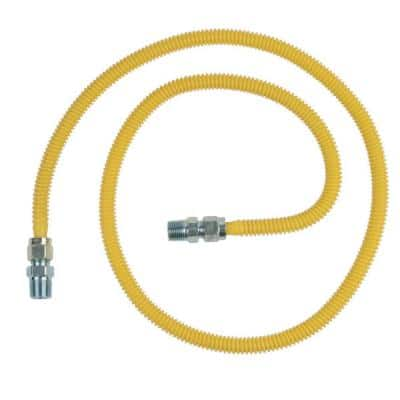 ProCoat 1/2 in. MIP x 1/2 in. MIP x 1/2 in. O.D. Stainless Steel Gas Connector