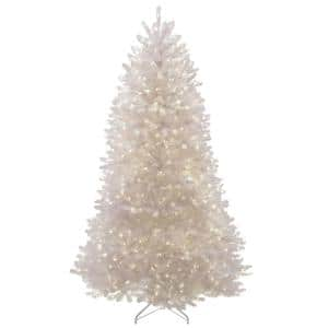 7.5 ft. Dunhill White Fir Artificial Christmas Tree with Clear Lights