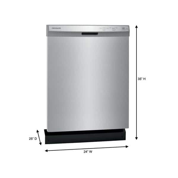 Frigidaire 24 In Stainless Steel Front Control Built In Tall Tub Dishwasher 55 Dba Ffcd2418us The Home Depot