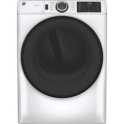 7.8 cu. ft. Smart 120-Volt White Stackable Gas Vented Dryer with Sanitize Cycle, ENERGY STAR