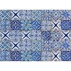 Blue Azulejos Kitchen Panel Wall Decal
