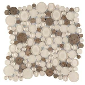 Lucente Lido Gloss/Matte Mix 11.81 in. x 11.81 in. x 8mm Glass Mesh-Mounted Mosaic Tile (0.97 sq. ft.)