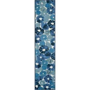 Martha Stewart Azurite Blue 2 ft. 3 in. x 10 ft. Runner Rug