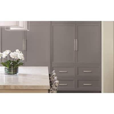 Blackrock 12 in (305 mm) Center-to-Center Satin Nickel Cabinet Drawer Appliance Pull