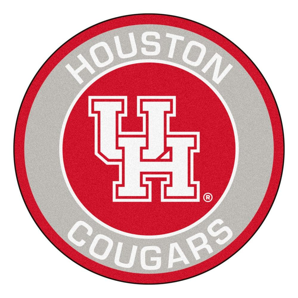 Fanmats Ncaa University Of Houston 27 In Round Roundel Mat Area Rug 21727 The Home Depot