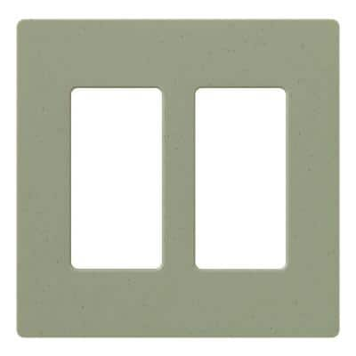 Claro 2 Gang Decorator/Rocker Wallplate, Matte, Greenbriar (1-Pack)