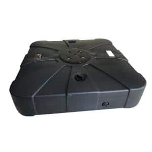 Belle HDPE Patio Umbrella Base with Wheels in Black