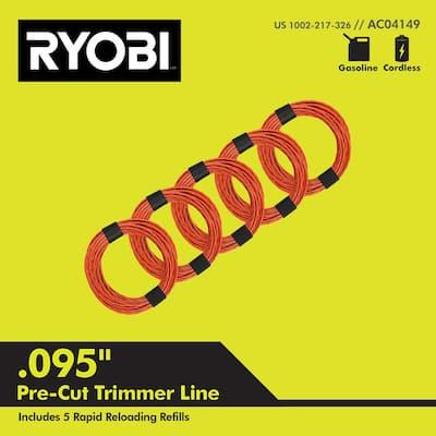 0.095 in. x 16 ft. Pre-Cut Spiral Line (5-Pack)
